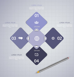 Infographics design template with ico vector