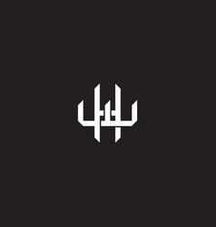 initial letter overlapping interlock logo vector image