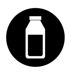 Juice fruit bottle isolated icon vector