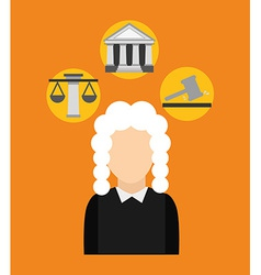 justice concepts vector image