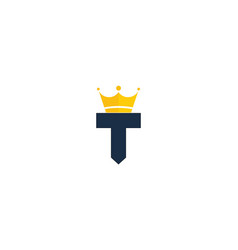 King letter t logo icon design vector
