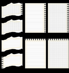Lined sheet set vector