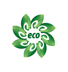 logo eco vector image