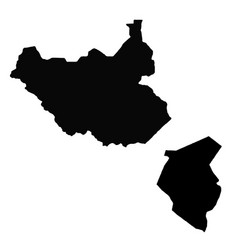 Map south sudan and juba country and capital vector