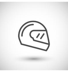 Modern motorcycle helmet line icon vector image