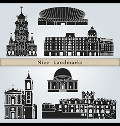 Nice landmarks and monuments vector