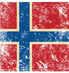 Norway retro flag vector
