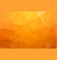 orange polygonal mosaic background geometric vector image