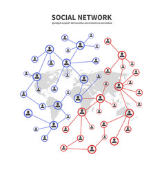 people socia networks and telecommunications vector image