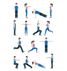 People stretching body vector