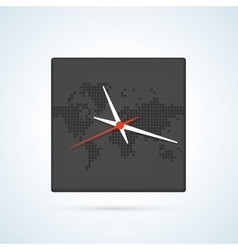 PrintClock map vector image