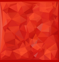 Red color 3d polygon background modern origami vector