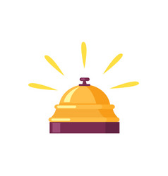 ringing golden bell icon vector image