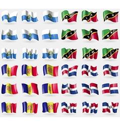 San Marino Saint Kitts and Nevis Andorra Dominican vector