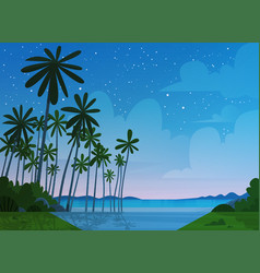 sea shore beach after sunset beautiful seaside vector image