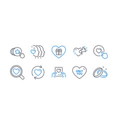Set love icons such as update relationships vector