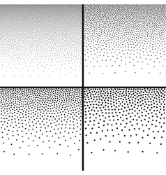 Set of Abstract Gradient Halftone Dots Backgrounds vector image