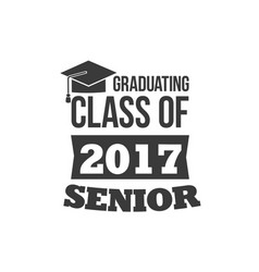 Set of two black colored senior text signs vector