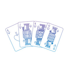spades suit french playing cards related icon icon vector image