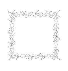 Square floral graphic frame vector