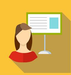Teacher woman icon flat style vector