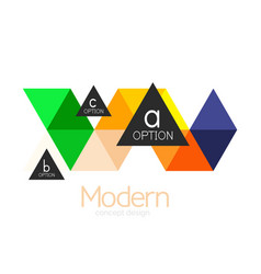 Triangle shape design abstract business logo icon vector