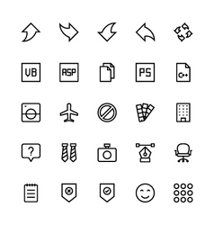 User Interface Colored Line Icons 33 vector image
