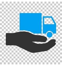 Van Delivery Service Hand Eps Icon vector