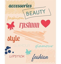 With fashion doodle elements vector