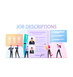 Work descriptions concept tiny employer vector