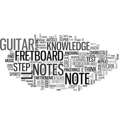 a guitar lesson to help you test your note vector image vector image