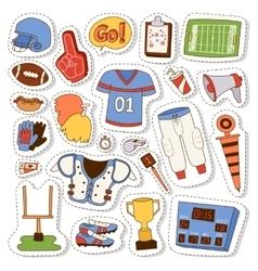 American football icons set vector image