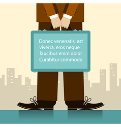 Briefcase in man hands of businessman vector image vector image