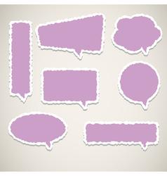 bubble speech paper vector image