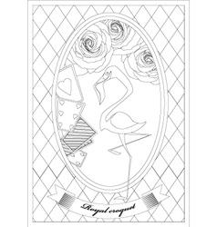 Coloring Page Alice in Wonderland Royal Croquet vector image