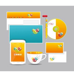 Corporate identity kit vector image
