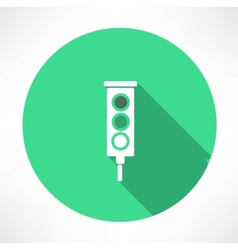 Green Traffic Lights icon vector image vector image