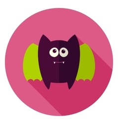 Cute Bat Circle Icon vector image