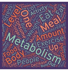Quick tips to boost your metabolism text vector