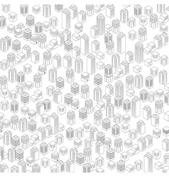 Urban architectural background vector image vector image
