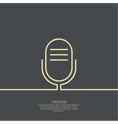 Abstract background with an old microphone vector image