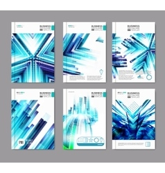 Blue business covers collection vector image vector image