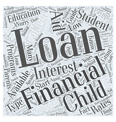 college grant loan scholarship Word Cloud Concept vector image