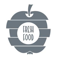 fresh food logo simple style vector image