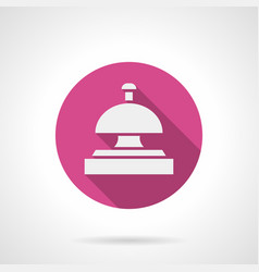 hotel bell pink round icon vector image