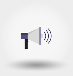 megaphone icon flat design vector image