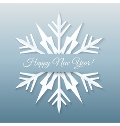 Paper Snowflake Postcard vector image vector image