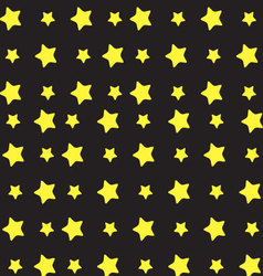 Yellow star pattern vector image