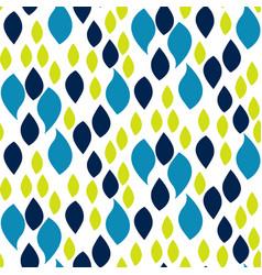 abstract blue and green drop petals pattern vector image vector image
