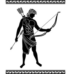 ancient bowman vector image vector image